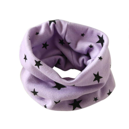 Kids Baby Girls Boy Cotton Snood Scarf Scarves Neckerchief Stars Print G0 G0