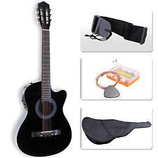 Beginners Acoustic Guitar w/ Guitar Case, Strap, Tuner&Pick Steel Nylon Strings