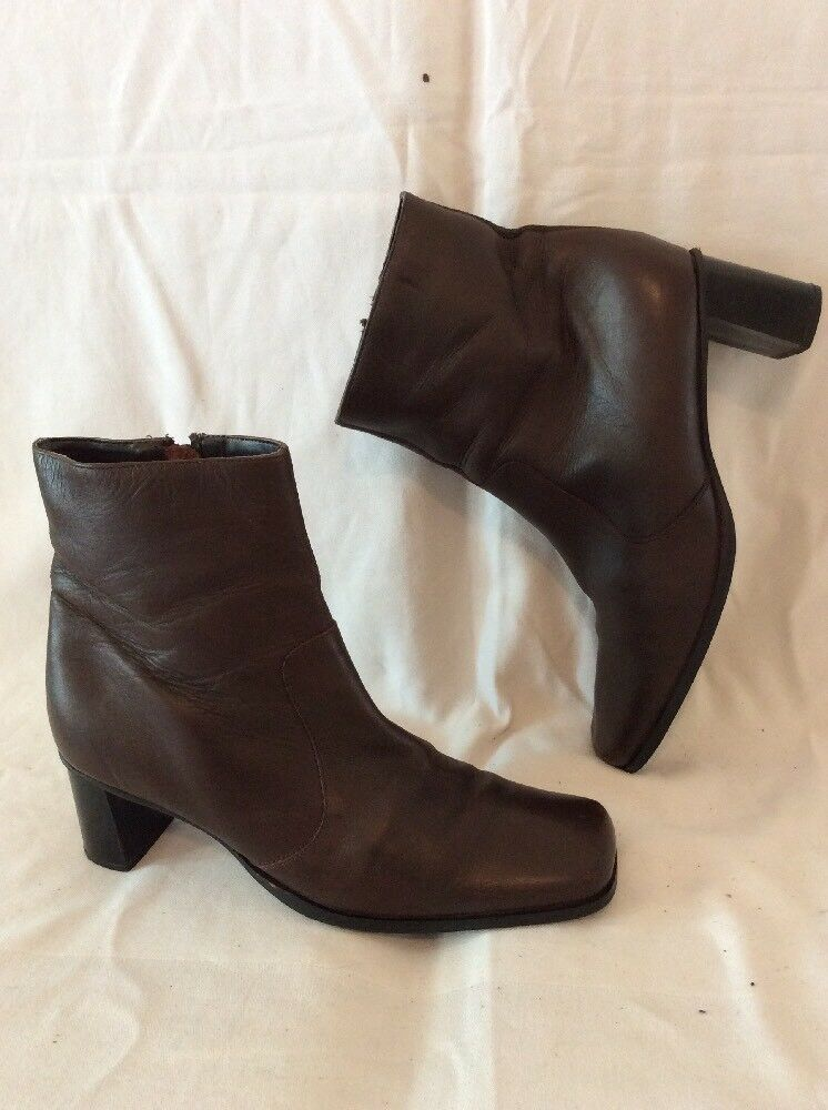 Florence+Fred Brown Ankle Leather Boots Size 7
