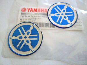 BLACK DECAL EMBLEM STICKER X 2 YAMAHA GENUINE 40MM TUNING FORK LOGO GOLD