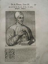 1584.Uomini Illustri.ALPHONSE TOSTAT.Xilo.Thèvet..