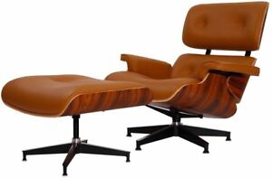 Cool Details About Eames Lounge Chair Reproduction Light Brown Terracotta Palisander Real Leather Creativecarmelina Interior Chair Design Creativecarmelinacom