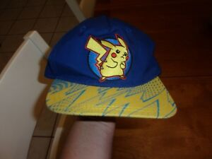 6aa33d219f0 Image is loading POKEMON-PIKACHU-BLUE-YELLOW-2016-YOUTH-BALL-CAP-