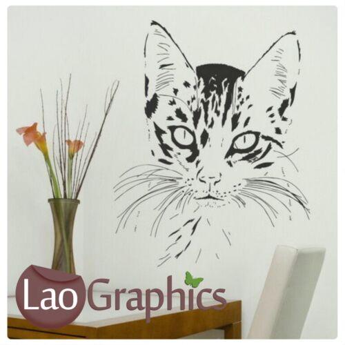 Kitten Head Cat Wall Art Sticker Large Vinyl Transfer Graphic Decal Home UK CA10