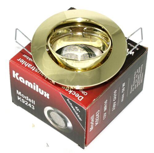 1-20er Einbau federring Lisa Schwenkbar 12V GU5,3 MR16 GU10  230V Sockel