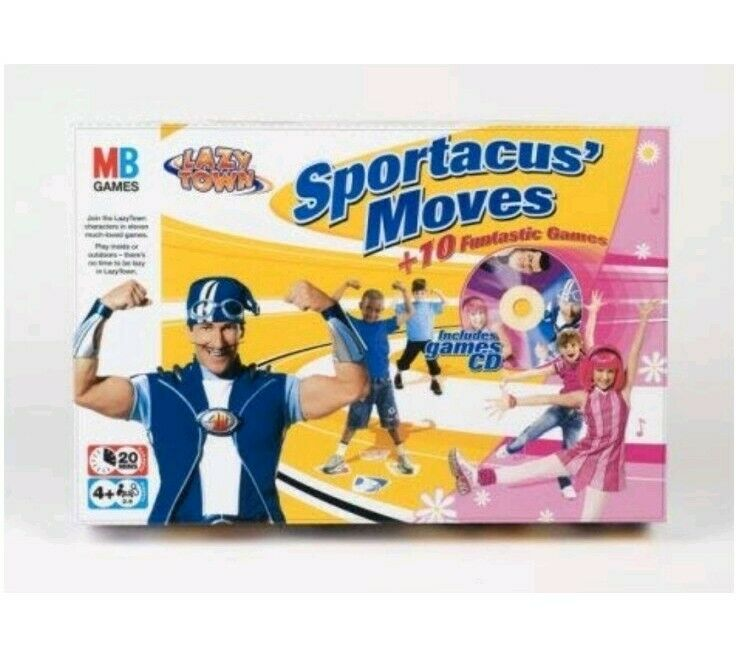 Lazy Town Sportacus Moves Game - MB Games - 10 Funtastic Games - New and Sealed