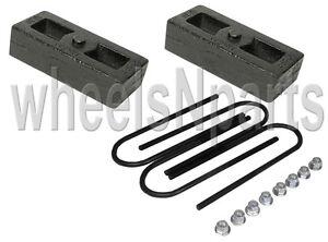 2-034-lowering-blocks-cast-steel-chevy-S10-drop-kit-amp-rear-axle-u-bolts-GMC-Sonoma