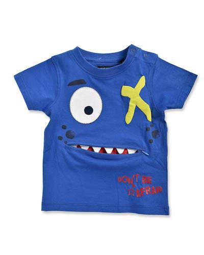 Nuevo Blue Seven Baby camisa t-shirt monstruo cremallera talla 62 68 74 80 86