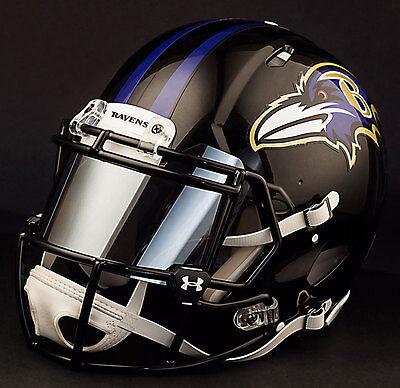 Custom Baltimore Ravens Full Size Nfl Riddell Speed Football Helmet Ebay