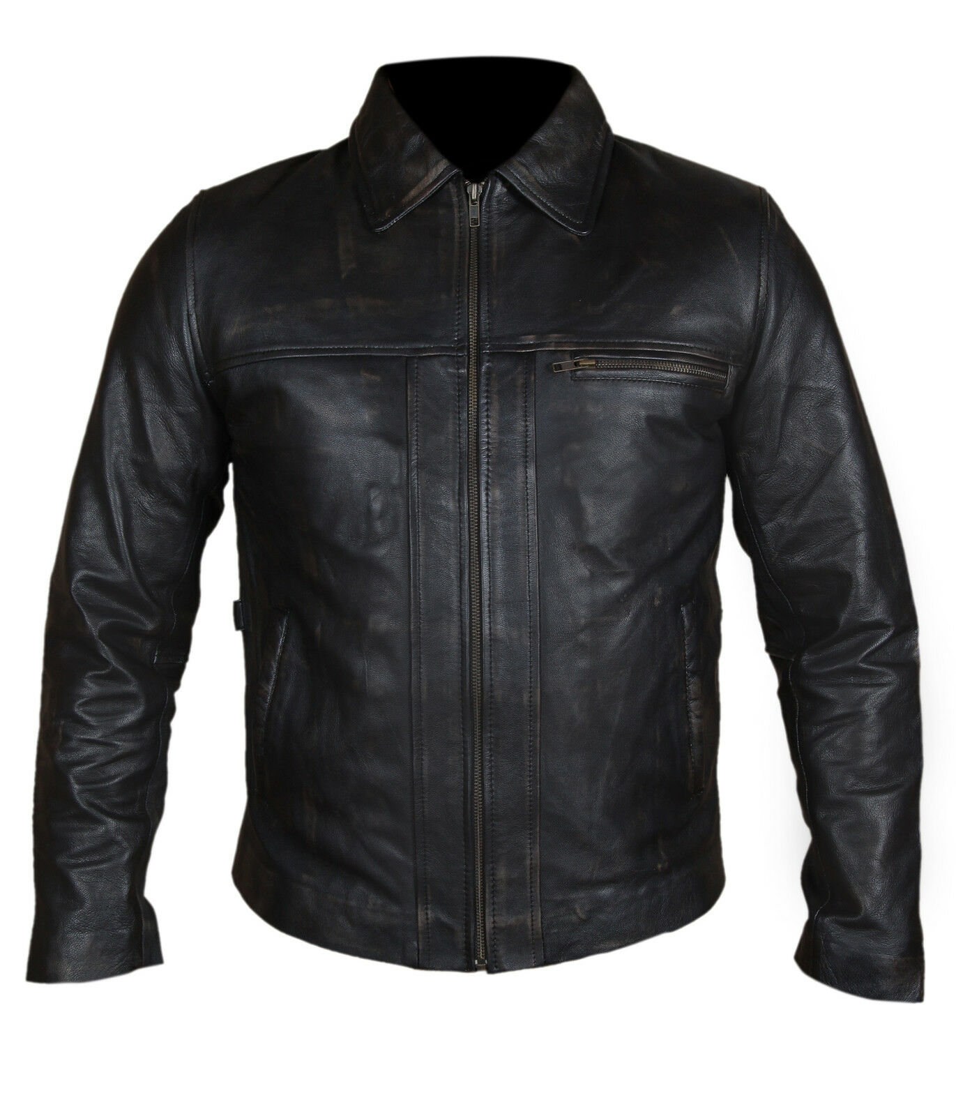 Inception Cobb DiCaprio Vintage Genuine Cow Leather Brown Mens Leather Jacket