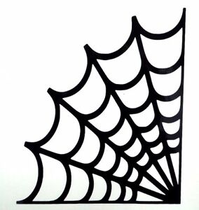 Spider web halloween spooky cool car window vinyl decal Getting stickers off glass