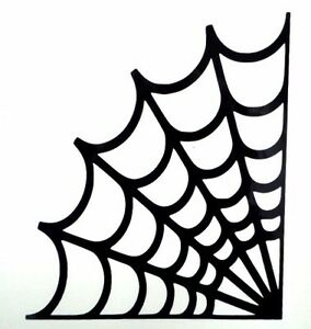 Spider Web Halloween Spooky Cool Car Window Vinyl Decal ...