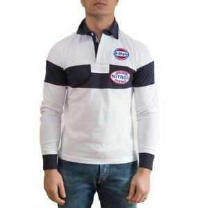 A-Style-Polo-Uomo-Col-Bianco-tg-varie-49-OCCASIONE