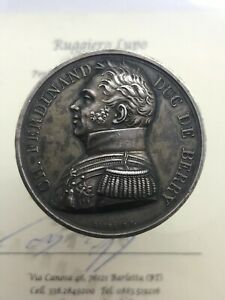 Medaille-Meurtre-de-Carlo-Ferdinand-Duc-de-Berry-1816-Paris-Opus-Gayrard
