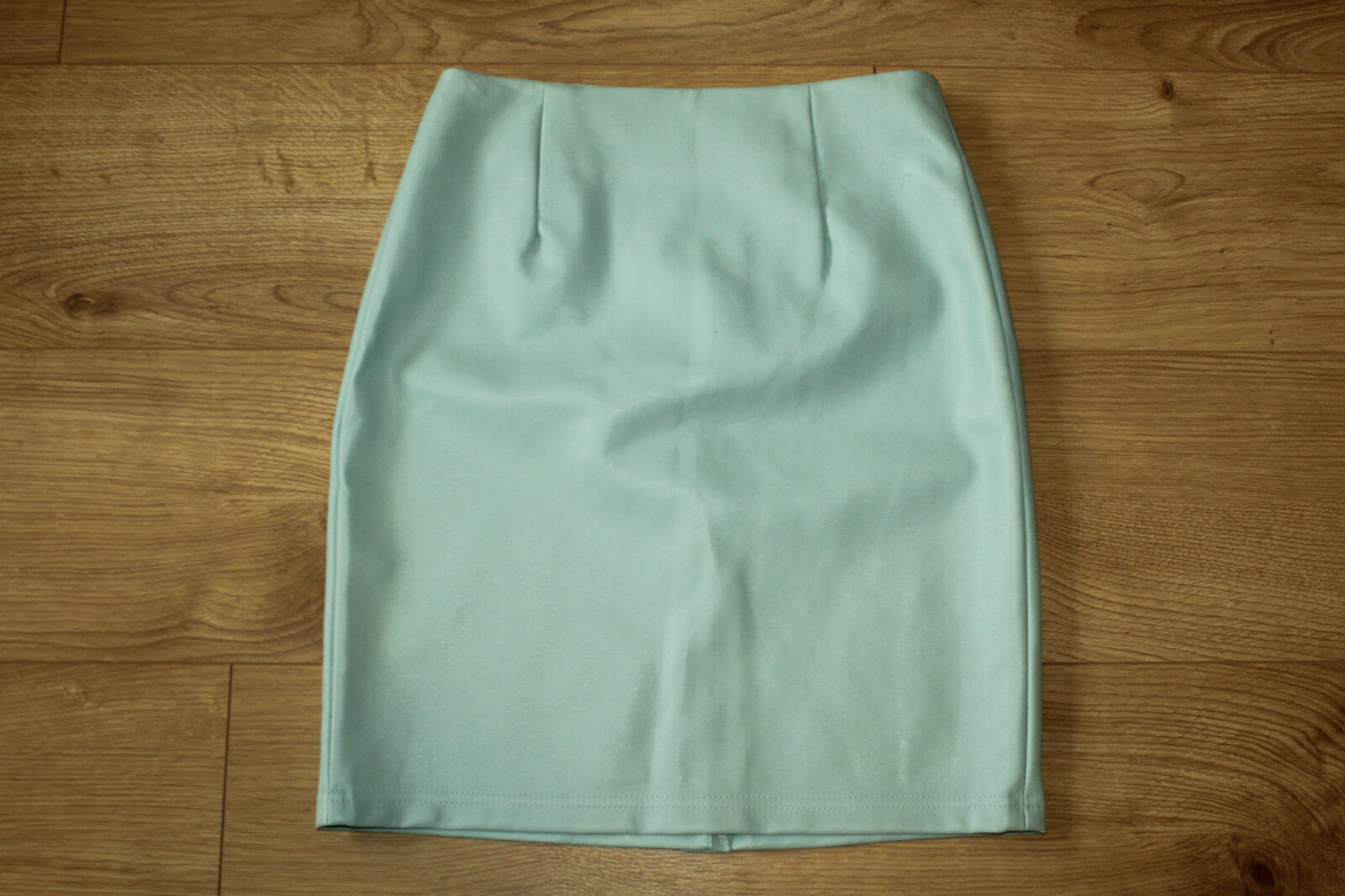 Turquoise Look Leather ATMOSPHERE Straight Pencil Clubwear Casual Skirt 6   34