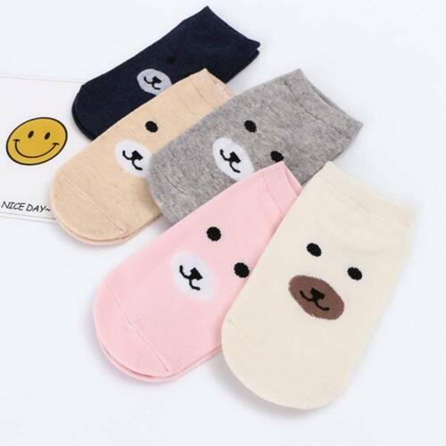 Little Bear Invisible Sock Summer Cotton Boat Socks Ankle Low Female Hosiery l