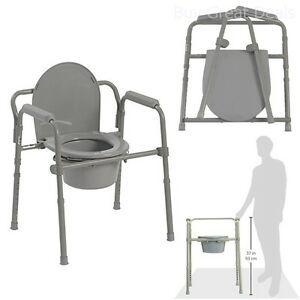 Toilet Seat For Elderly.Details About Adjustable Bedside Commode Toilet Seat Riser Fold Chair Handicap Elderly Safety