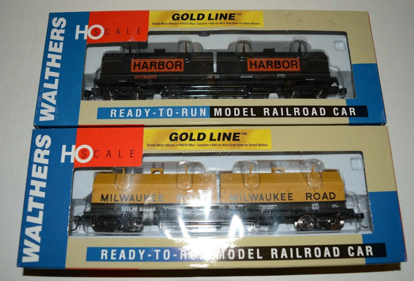 2 NEW in the box Walthers gold Line cushion coil cars, MILW and IHB, LOT