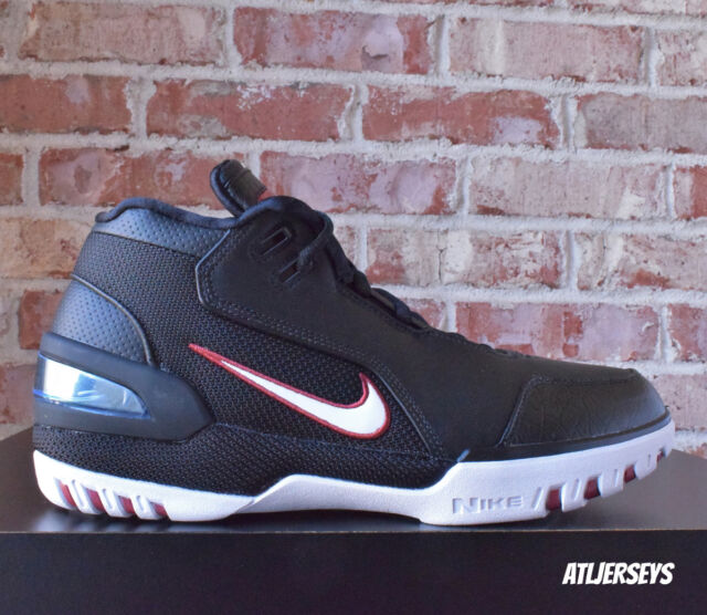 detailed pictures 25cd9 f411f Nike Air Zoom Generation QS Size 9 1/2 Lebron James Retro Black AZG  Aj4204-001