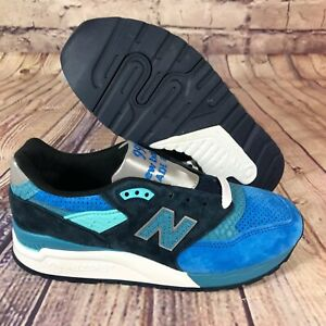 best website 82401 588df Details about New Balance 998 MADE IN USA Blue Navy White Silver Fish  M998NE Men's Size 5