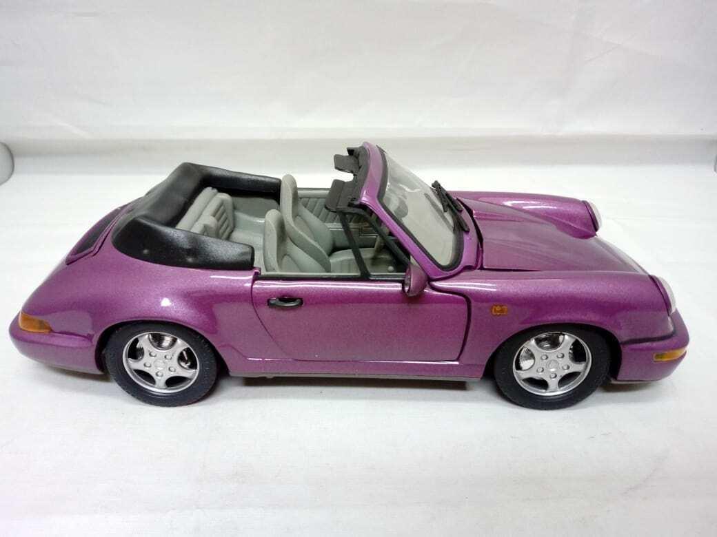 ANSON Porsche 911 Carrera 4 Cabriolet 1 18 Diecast lila