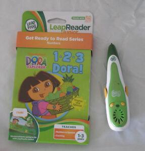 Leap-Frog-Tag-Pen-Plus-Reader-Dora-1-2-3-Book