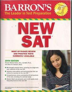 Barron's New SAT par ira K. Wolf, Sharon Weiner vert et Brian W. Stewart 2015