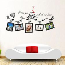 Love Birds Photo Frame Wall Sticker Removable Vinyl Art  Decal Mural Home Decor