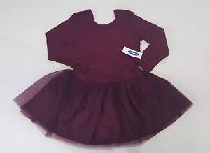 NWT-Old-Navy-Girls-Size-12-18-24-Months-2t-3t-or-4t-Burgundy-Ballet-Tutu-Dress