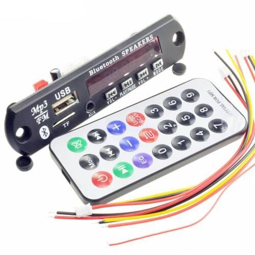 Bluetooth 5V//12V MP3 WMA Decoder Board Audio Module TF FM USB Radio For Car