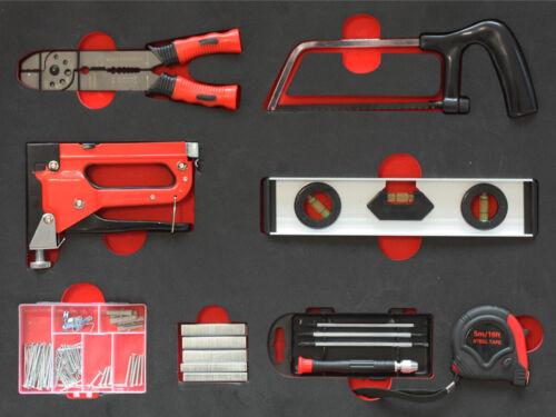 Werkzeug Set inkl Schaumstoffeinlage für Werkzeugwagen Werkzeugkoffer