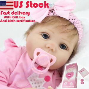 Realistic-Toddler-Reborn-Baby-Doll-Newborn-22-034-Vinyl-Silicone-Girl-Doll-Handmade