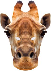 Adults Giraffe Jungle Animal Wild Carnival Fun Fancy Dress Costume Outfit Mask
