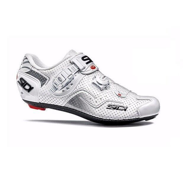 SIDI Kaos Air Road Cycling scarpe Bike Bicycle scarpe biancabianca Dimensione 3646 EUR