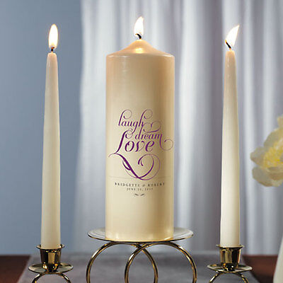 Expressions Personalized Unity Candle Ceremony White Or Ivory Wedding Candles 68180035274 Ebay