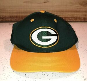 19570bb7 Details about Vintage 90's Green Bay Packers Logo 7 Snapback Hat Athletic