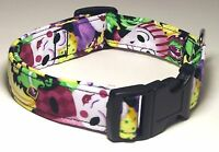 Wet Nose Designs Colorful Harlequin Masks Dog Collar Mardi Gras