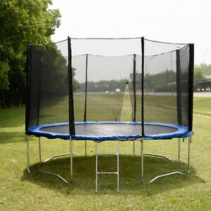 12-FT-Trampoline-Combo-Bounce-Jump-Safety-Enclosure-Net-W-Spring-Pad-amp-Ladder