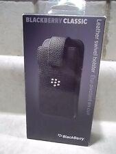 Blackberry Black Leather Swivel Holster Case for Blackberry Classic