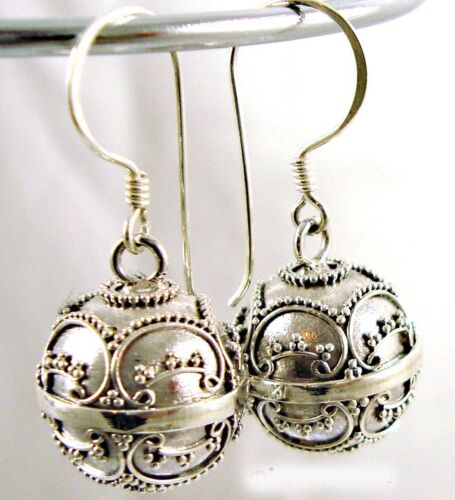 925 14mm sterling silver harmony ball earring jingle muscial chime earring hh10