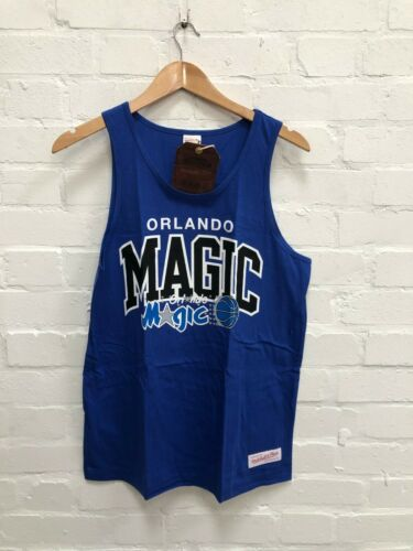 Mitchell /& Ness Orlando Magic NBA Men/'s Team Arch Tank Top New Blue