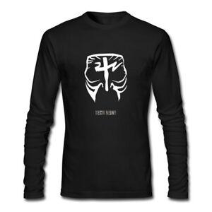 c09538e8 Men's Tech N9ne Face Paint Logo Long Sleeve Cotton T-shirt Black | eBay