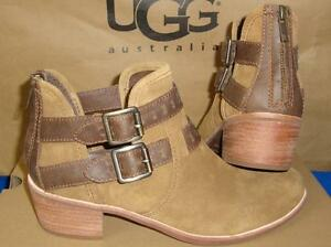fdf313470ef Details about UGG Australia PATSY Chestnut Buckle Ankle Boots Booties Size  US 7 NIB #1011662