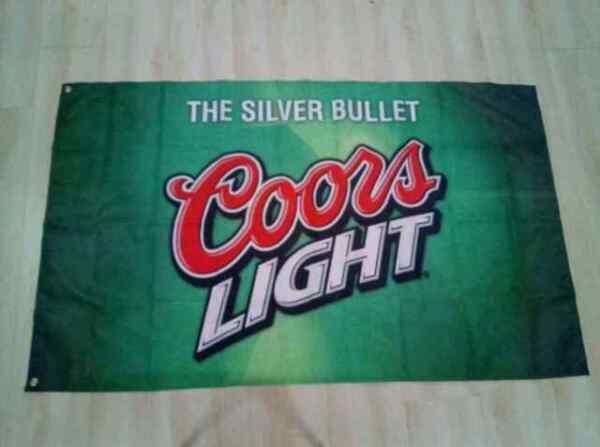 Coors Light Flag Banner 3x5 Feet Sign Silver Bullet Beer