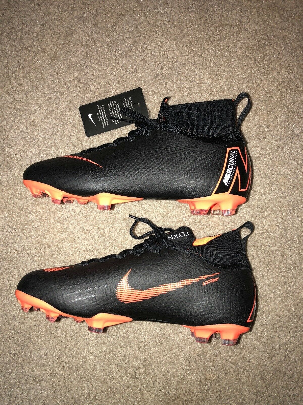 AH7340-081 Nike Mercurial Flyknit Soccer Cleat. Sz 4.5 Youth