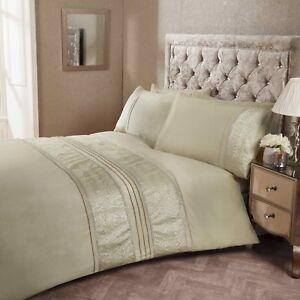 Fancy Duvet Set Luxury Ruffle Duvet Cover Bedding Linen Set Alina Silk