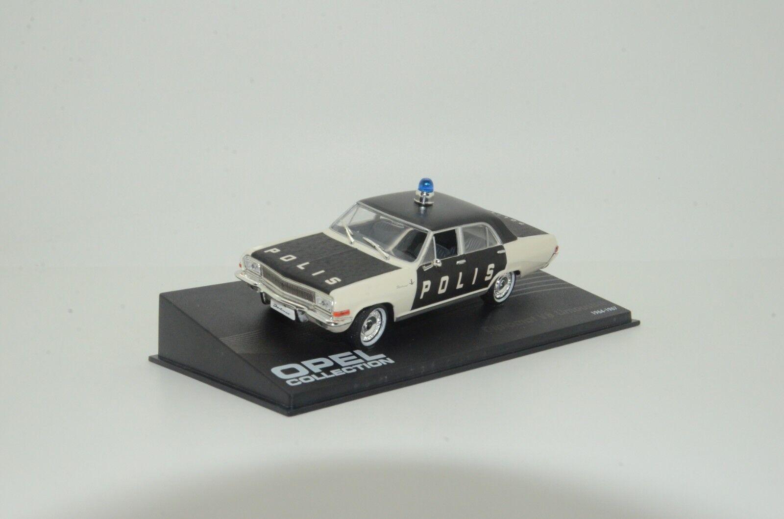 contador genuino    rara    Opel Diplomat polis polis polis policía Hecho a Medida 1 43  Ahorre hasta un 70% de descuento.