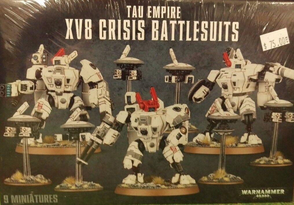Warhammer 40k tau xv-8 krise battlesuit team (3 battlesuits & 6 drohnen) versiegelt