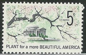 Scott 1318 Plant For A More Beautiful America Unused Us