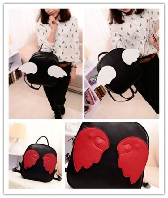 Fashion Harajuku Kawaii handbag Replaceable Angel Wing Totes Satchel Backpack